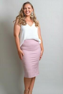 Love U Basics Pencil Skirt - Dusty Pink