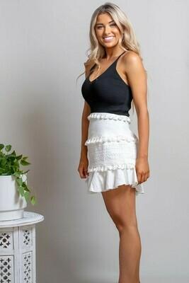 Noosa Fringe Skirt - White
