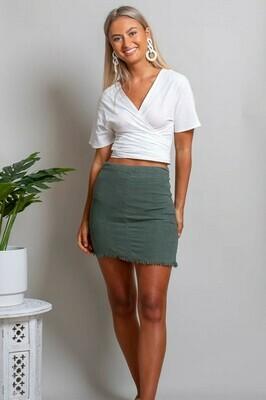 Vivian Fray Skirt - Khaki