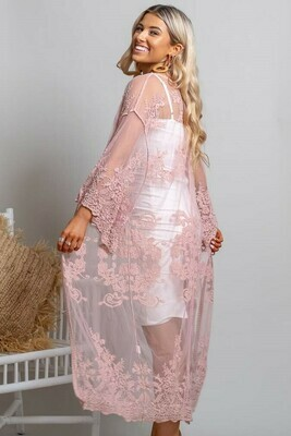 Summer Crazy Lace Cape - Antique Pink
