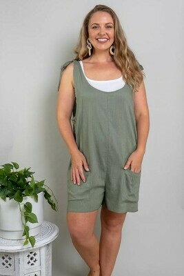 Play All Day Playsuit - Khaki