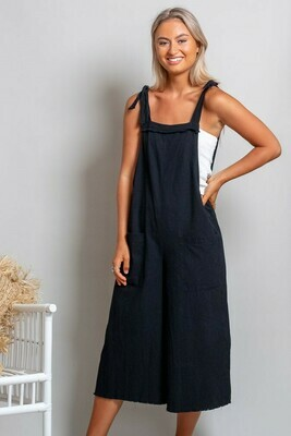Byron Fray Jumpsuit - Black