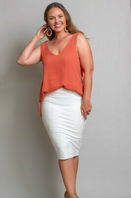 Love U Basics Midi Skirt - Ivory