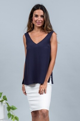 The V Top - Navy
