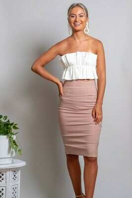 Love U Basics Pencil Skirt - Latte