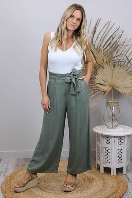 Back To Basics Linen Dress Pants - Khaki