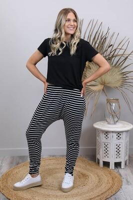 Drop Dudleys - Black/White Stripe