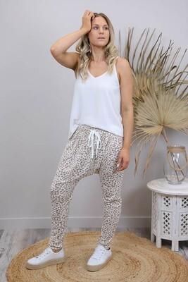 Nugget Drop Pants - White/Mocha Leo
