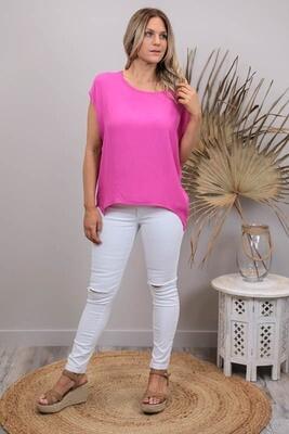 Kim Top - Fuchsia Pink