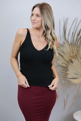 Kylie Knit Long Top - Black