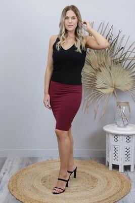 Love U Basics Midi Skirt - Chiraz