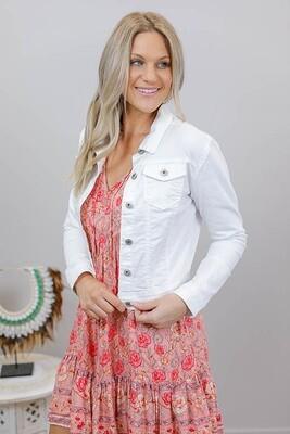 Beachcomber Denim Jacket - White