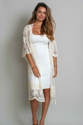 Summer Living Lace Cape - Cream