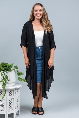 Sandy Beach Summer Cardi - Black