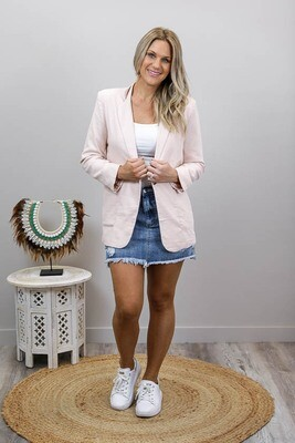 Fairy Dust Blazer Jacket - Blush