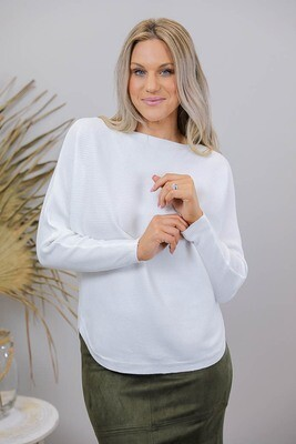 Crazy As Light Knit Jumper - White