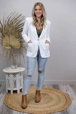 Fairy Dust Blazer Jacket - White