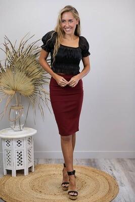 Love U Basics Pencil Skirt - Shiraz