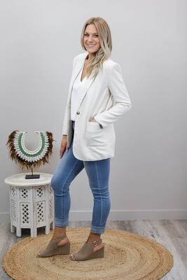 Fairy Dust Blazer Jacket - Beige