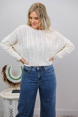 Celeste Cable Knit Jumper - Latte