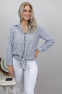 Boardwalk Cotton Must Have Shirt - Gray Stripe