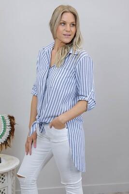 Boardwalk Cotton Must Have Shirt - Denim Stripe