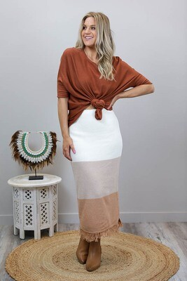 Kaylani Knit Maxi Skirt - Earth Multi