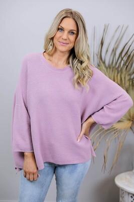 Petal Knit Top - Dusty Pink