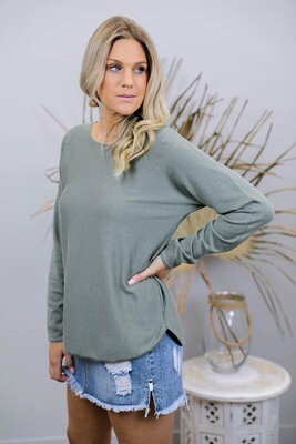Splendid Basic Light Knit Jumper - Khaki