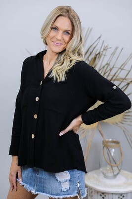 Absolutely Fabulous Cotton Shirt - Black