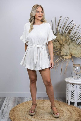 Chadwick Frill Playsuit - Cream