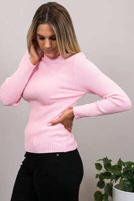 Back To Basics Rib Jumper - Fairy Floss Pink