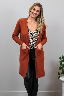 Billy GoGo Luxe Cardigan - Rust