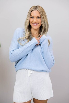 Veronica V Light Knit Jumper - Blue