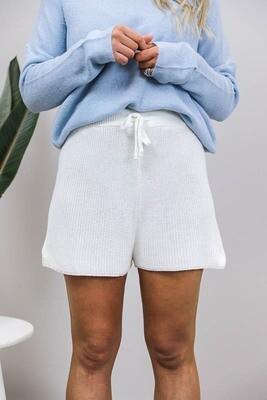 Baby Girl Festival Knit Shorts - Ivory