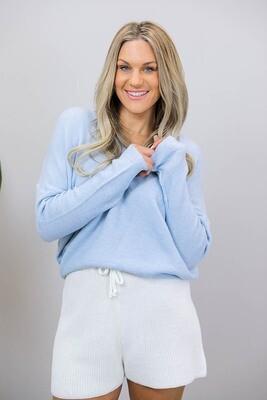 Veronica V Light Knit Jumper - Blue