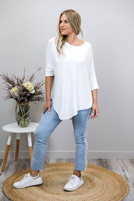 Rose Knit Top - Ivory