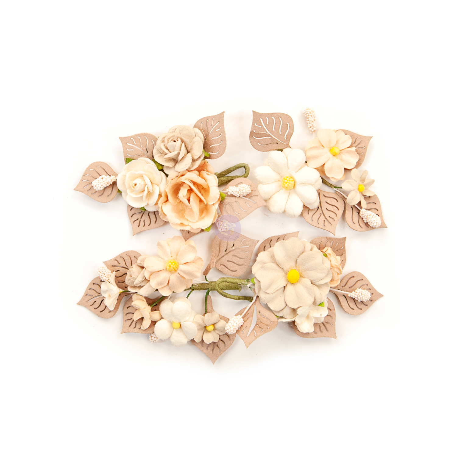 Rustic Floral - Pretty Pale Flowers - Prima