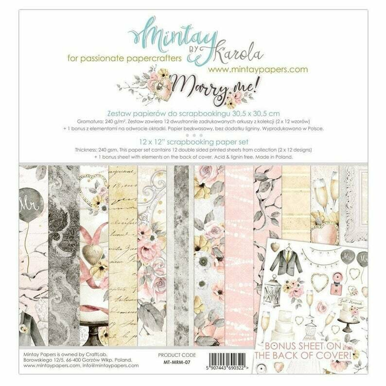Mintay by Karola - Marry Me - 12 x 12 Collection Pack