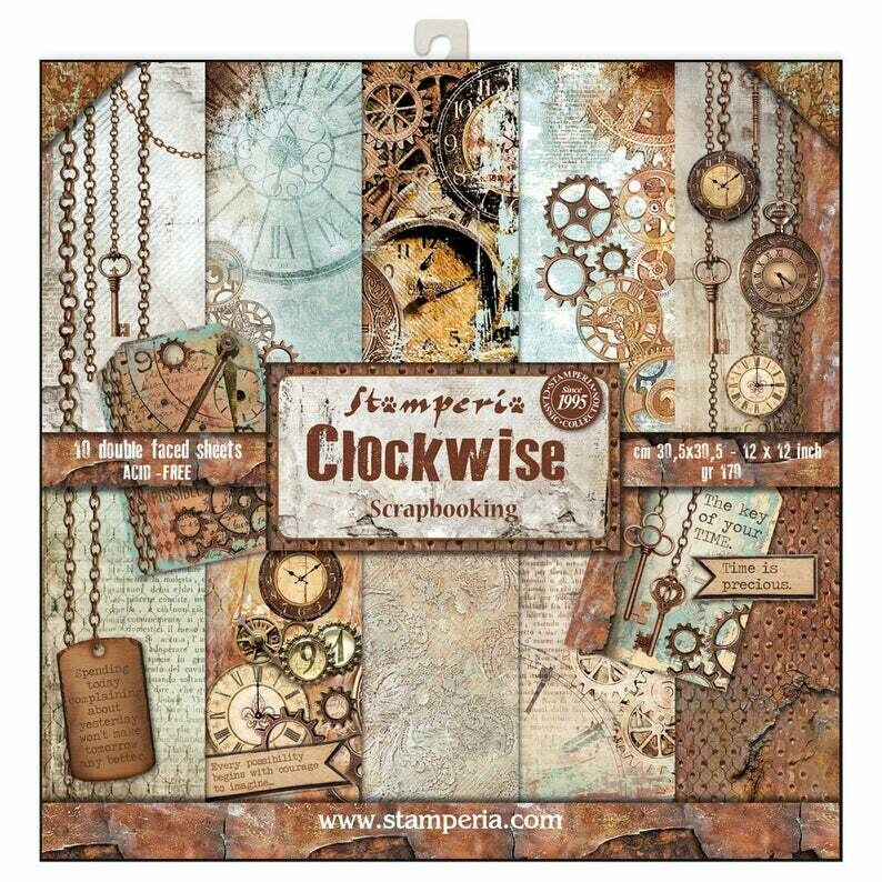 Stamperia Clockwise - 12 x 12 Paper Pad