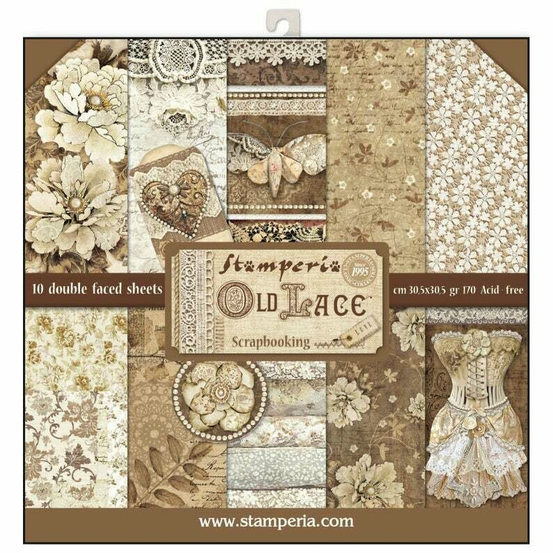 Stamperia Old Lace - 12 x 12 Paper Pad