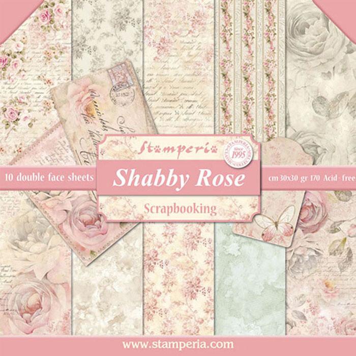 Stamperia Shabby Rose - 12 x 12 Paper Pad