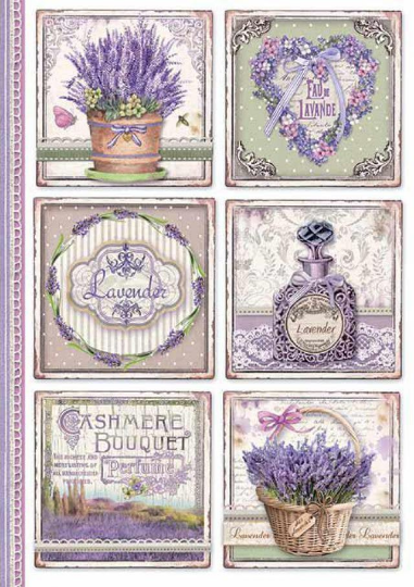 Provence Cards - A4 -Stamperia Rice Paper