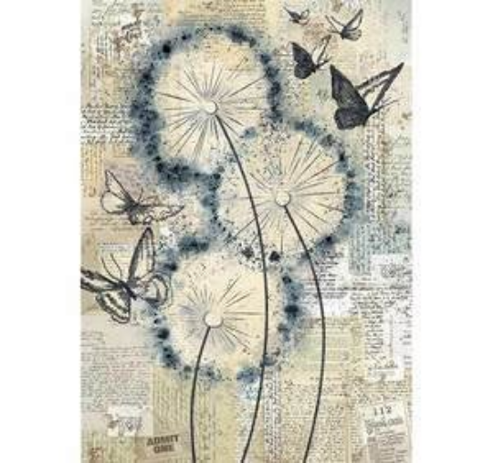Blowing in the Wind - A4 -Stamperia Rice Paper