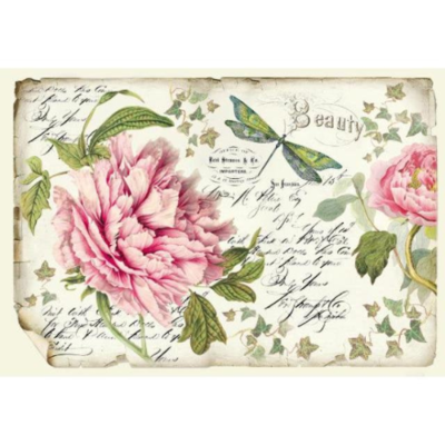Peony - XL Stamperia Rice Paper