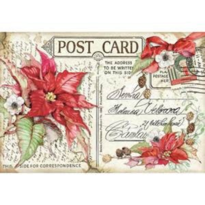 Poinsettia  - XL Stamperia Rice Paper