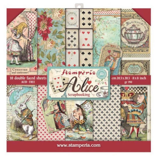 Stamperia Alice - 8 x 8 Paper Pad