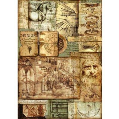 Leonardo Artworks - A3 -Stamperia Rice Paper