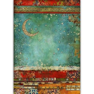 Moon - Make A Wish - A3 -Stamperia Rice Paper