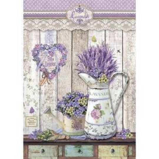 Provence Shabby Watering Cans - A4 -Stamperia Rice Paper